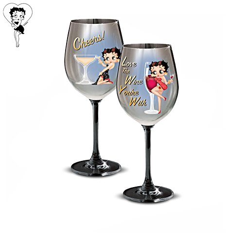 Betty Boop™ Wine Glasses: Set Three
