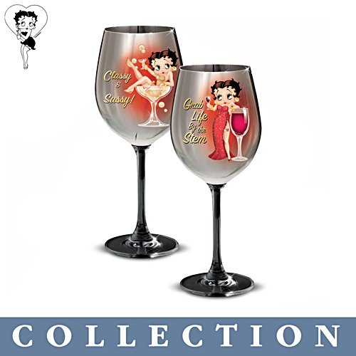 Betty Boop™ 'Classy And Sassy' Wine Glass Collection
