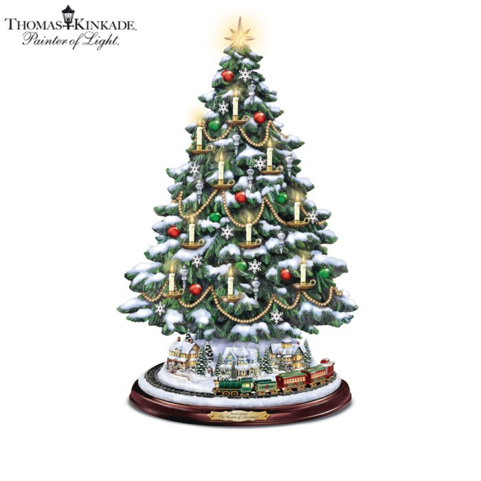 Christmas Heart.Thomas Kinkade The Heart Of Christmas Tree