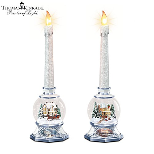 Thomas Kinkade 'Time Of Contemplation' Candleholder Set