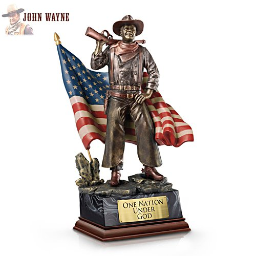'John Wayne: One Nation Under God' Talking Sculpture