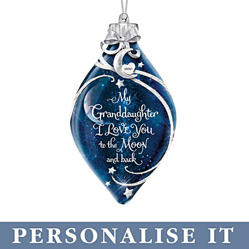 'Granddaughter, I Love You' Personalised Illuminated Ornament