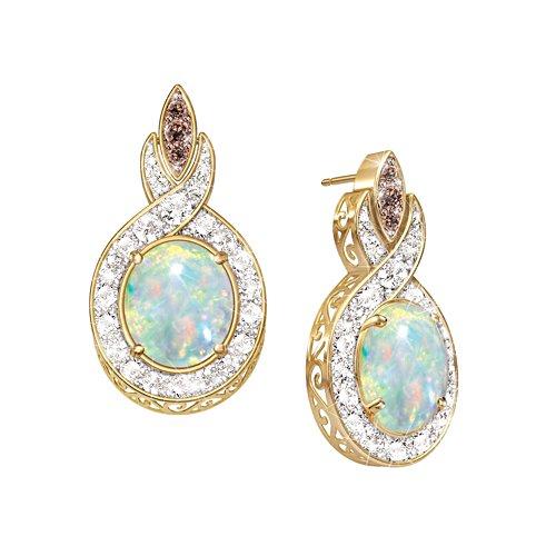 'Queen Of Gems' Opal & Diamond Earrings