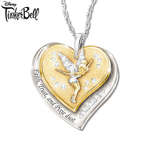 Disney Tinker Bell 'Faith, Trust And Pixie Dust' Ladies' Pendant