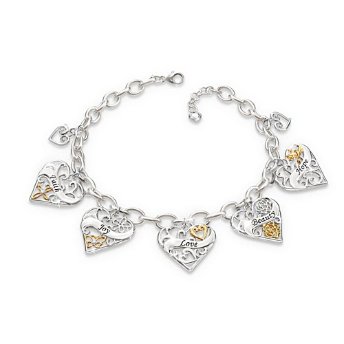 'Loving Wishes For My Daughter' Charm Bracelet