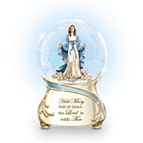 'Blessed Mary' Musical Glitter Globe
