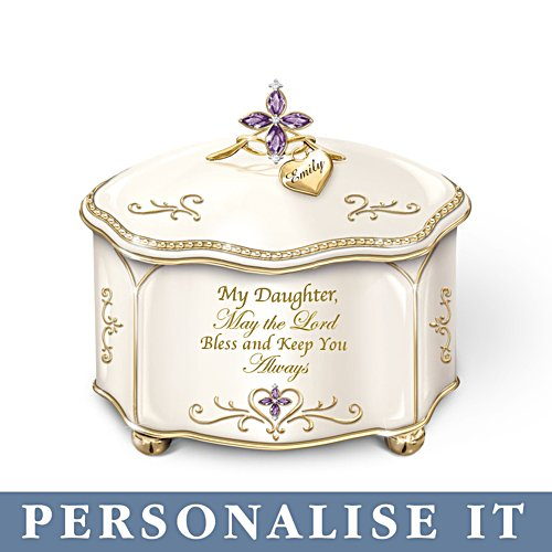 'Daughter, May The Lord Bless You' Personalised Music Box