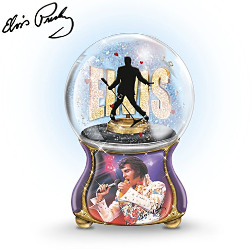 'Elvis™: Burning Love' Musical Glitter Globe