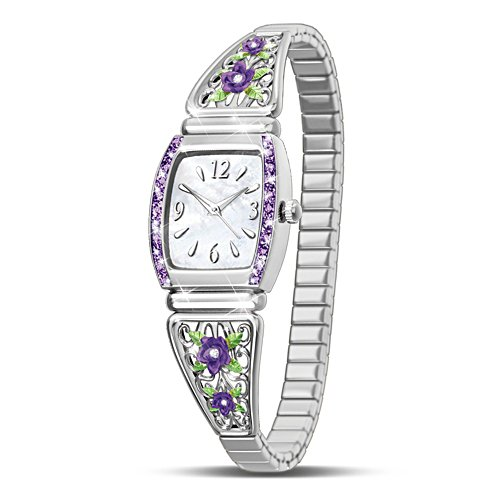 'Midnight Rose' Mother-of-Pearl Ladies' Watch