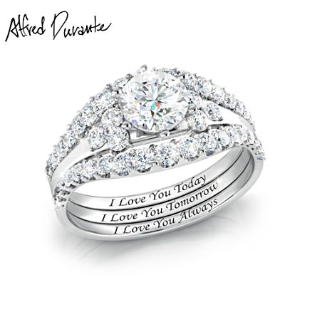 Alfred Durante 'I Love You Always' Stacking Ring