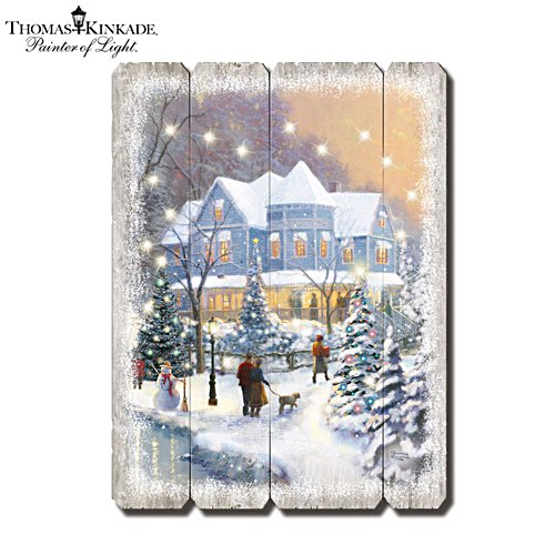 Thomas Kinkade 'Starlit Winter's Night' Wall Décor