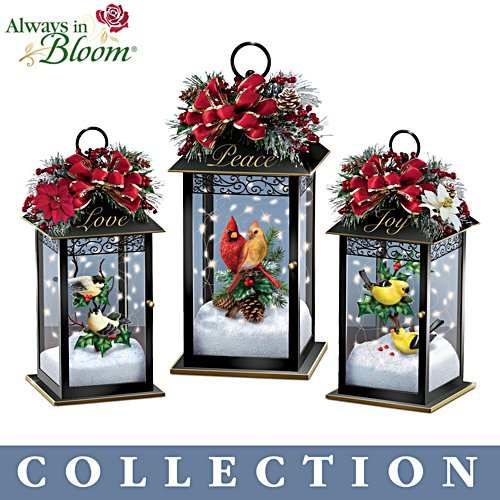 'Nature's Glory' Songbird Lit Lantern Collection