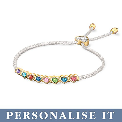 'The Heart Of Our Family' Personalised Birthstone Bracelet