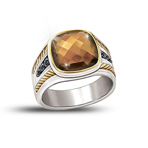 'Single Malt' Men's Smoky Quartz Men's Ring