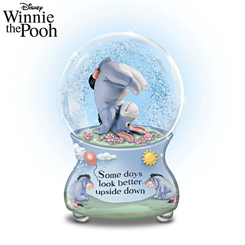 Disney 'Some Days Look Better Upside Down' Glitter Globe