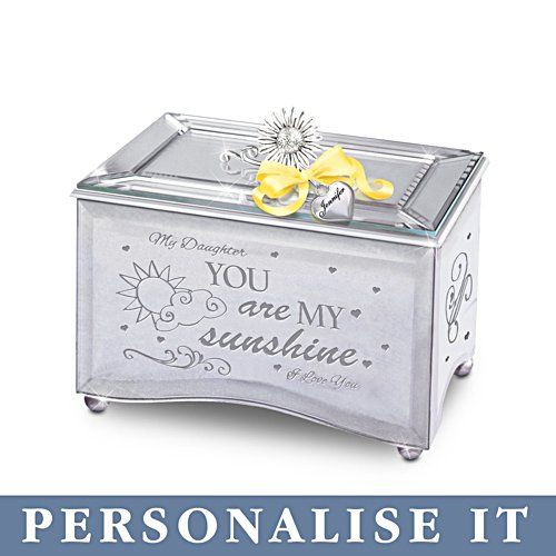 'Daughter, You Are My Sunshine' Personalised Music Box