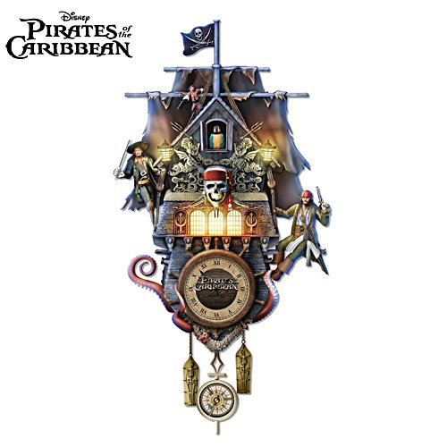 Disney 'Pirates Of The Caribbean' Cuckoo Clock