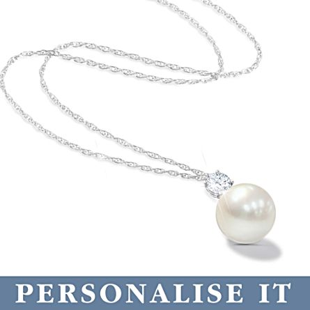 'Precious Granddaughter' Personalised Pearl Necklace