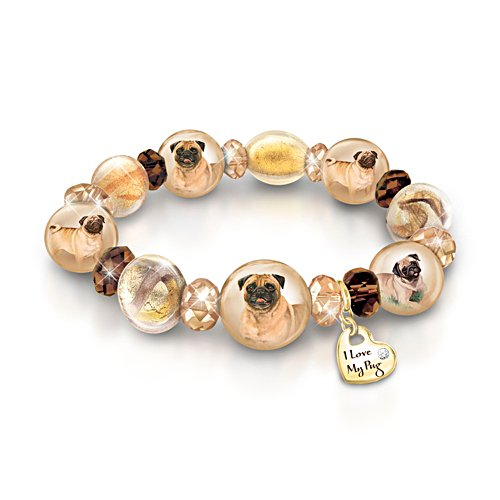 'Reflections Of Love' Pug Ladies' Bracelet
