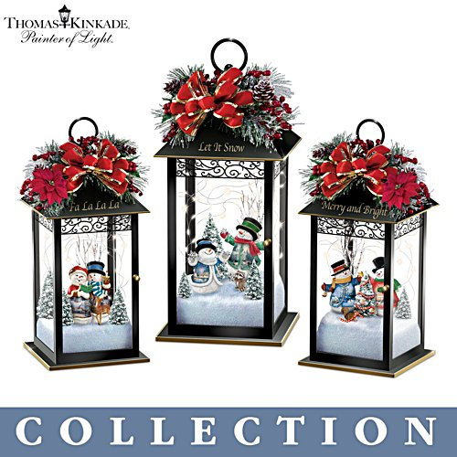 Thomas Kinkade 'Sparkling Snowfall' Table Centrepiece Collection