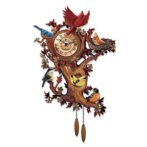'Treetop Chorus' Songbird Wall Clock