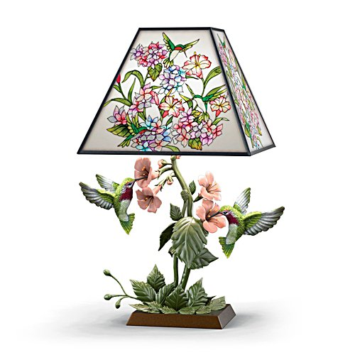 'Garden Of Light' Birds Stained Glass Lamp