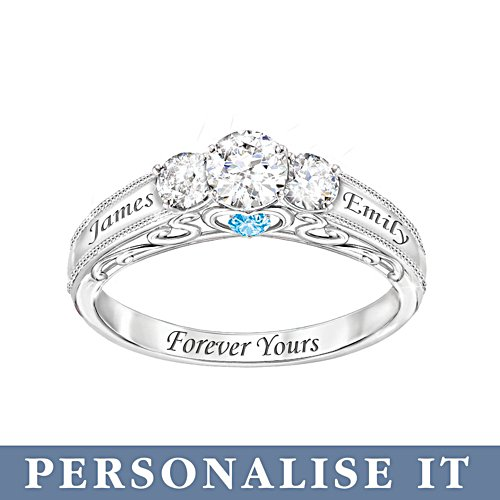 'Forever Yours' Personalised Ring