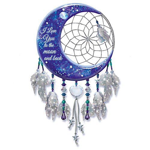 'I Love You To The Moon And Back' Illuminated Dreamcatcher