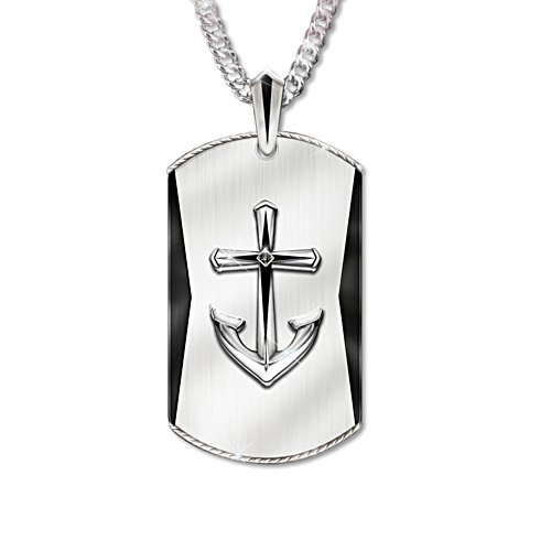 'Anchored In Faith' Son Pendant