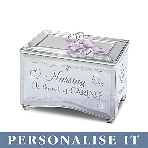 'Nursing Is The Art Of Caring' Personalised Music Box