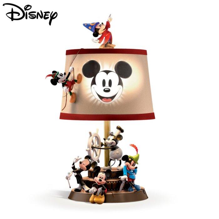 Durch die Zeit mit Micky Maus – Tischleuchte