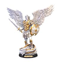 'St. Michael: Victorious' Cold-Cast Marble-Style Sculpture