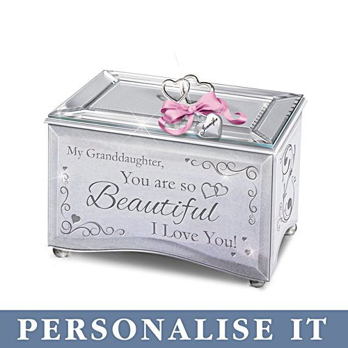 'Granddaughter, You Are So Beautiful' Personalised Music Box