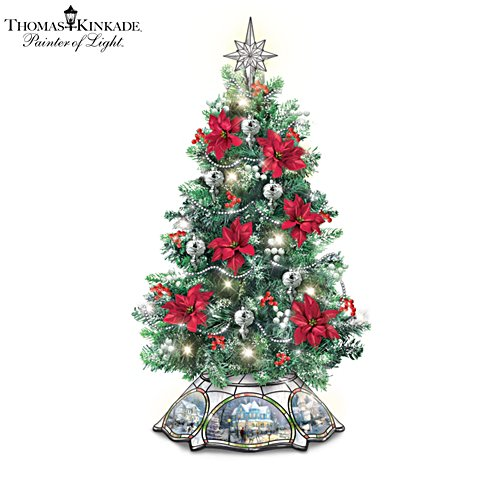 Thomas Kinkade 'The Warm Glow Of Christmas' Always in Bloom® Tabletop Tree