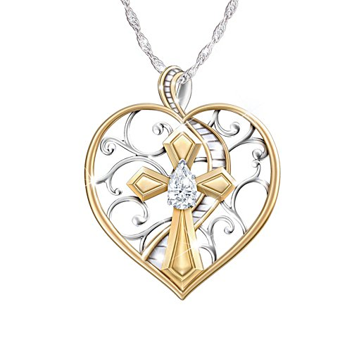 Loving Memories' White Topaz Remembrance Ladies' Pendant