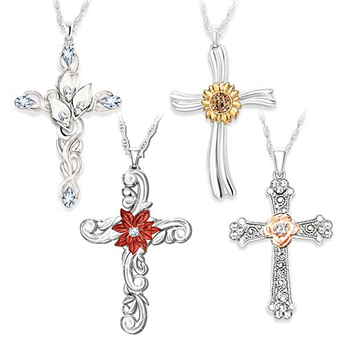 'Seasons Of Faith' Cross Pendant Set