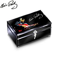 'Reflections Of Elvis™' Glass Music Box With Elvis Audio