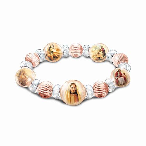 'Heaven's Grace' Copper And Porcelain Ladies' Bracelet