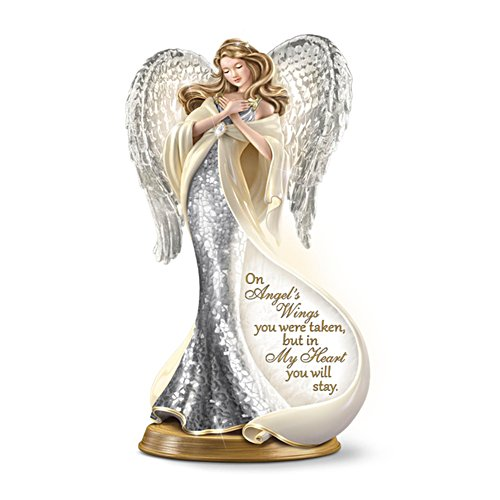 'Forever In My Heart' Mosaic Angel Figurine