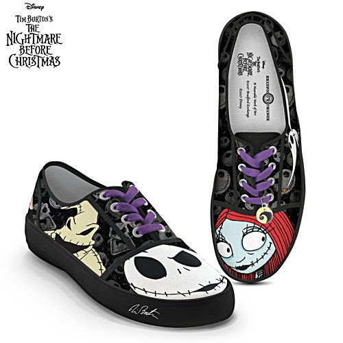 Disney 'Jack And Sally' Nightmare Before Christmas Ladies' Canvas Shoes