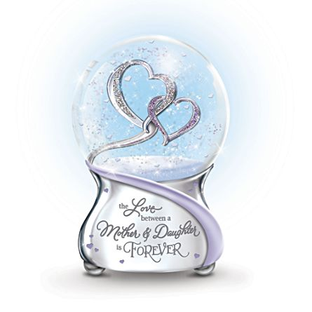 'Love Between Mother And Daughter Is Forever' Glitter Globe