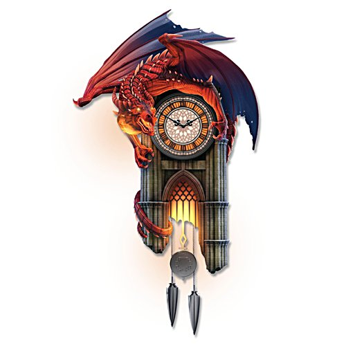 'Reign Of Fire' Dragon Illuminated Sound Wall Clock