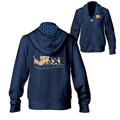 'Kitty-Kat Cute' Cat Ladies' Hoodie