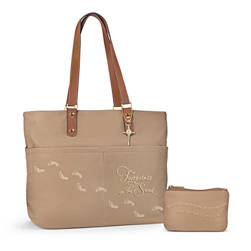 'Footprints In The Sand' Tote Bag And Cosmetic Bag