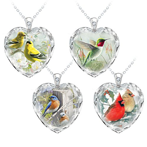 'Gifts Of Nature' Bird Pendant Set