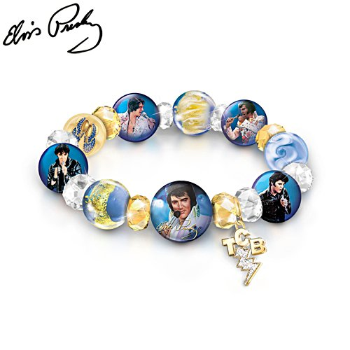 A Legend Redefined Elvis Presley Porcelain & Glass Bracelet