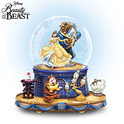Disney 'Beauty And The Beast' Rotating Musical Glitter Globe