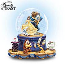 Disney 'Beauty And The Beast' Rotating Musical Glitter Globe