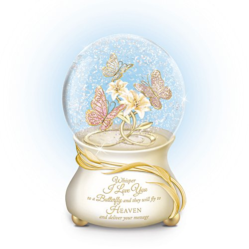 'Message To Heaven' Heirloom Porcelain® Musical Glitter Globe