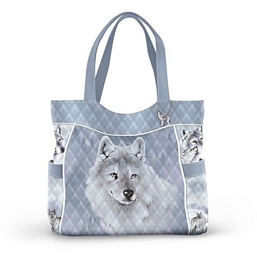 'Silver Sovereign' Wolf Tote Bag